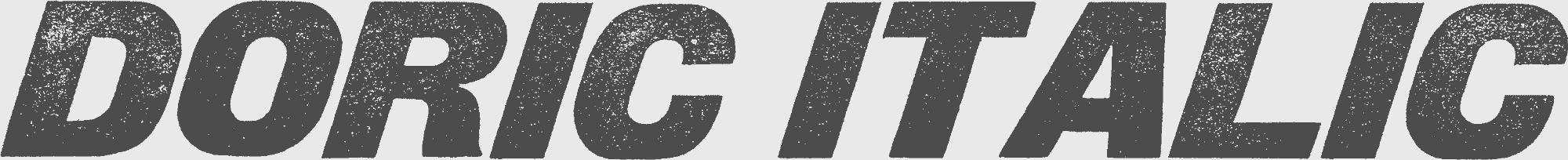 Sample of Doric Italic wood type