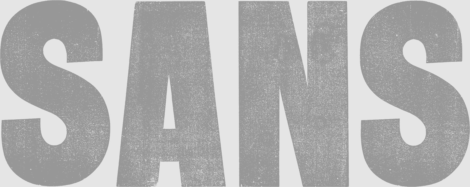 Sample of Sans Surryphs wood type