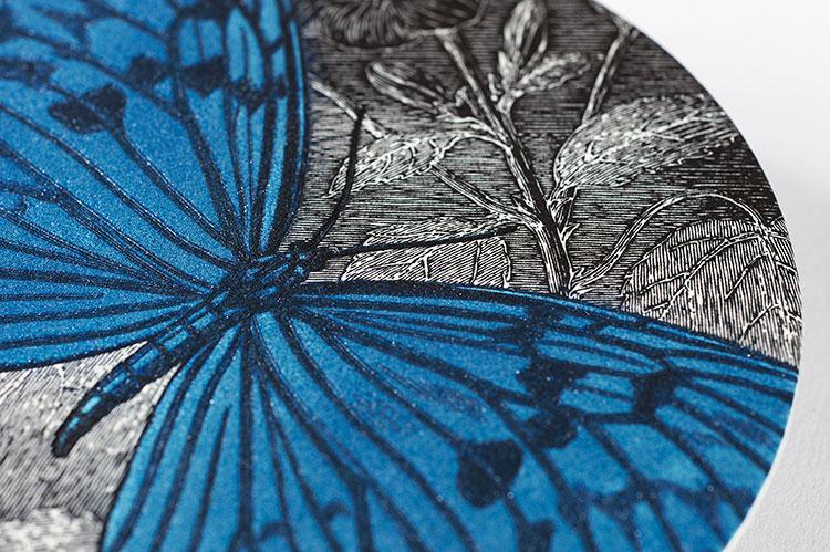 butterfly_lion_letterpress_coaster_invitation_closeup_750