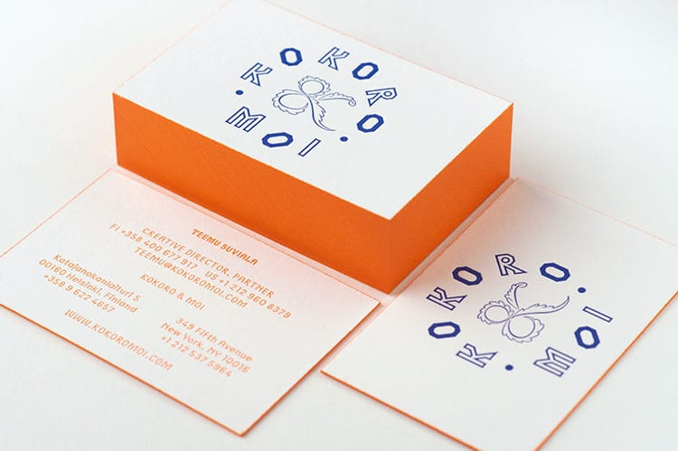 kokori_and_moi_letterpress_business_cards_edge_painting_750
