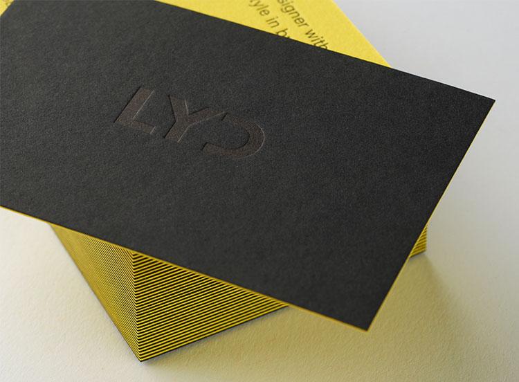 lyd_letterpress_business_cards_duplex_yellow_black_detail_750