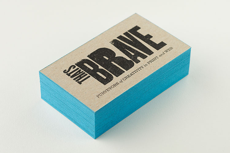 thats_brave_letterpress_business_cards_greyboard_edge_painting_stack_750