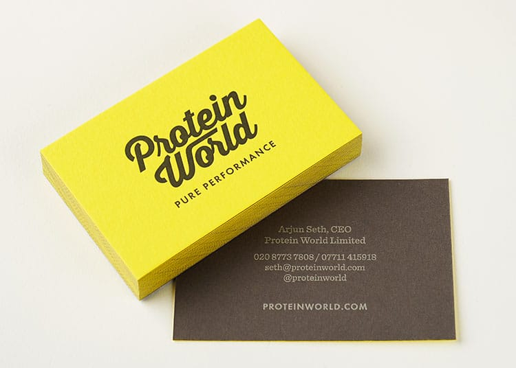 protein_world_letterpress_business_cards_duplex_colorplan_grey_yellow_750