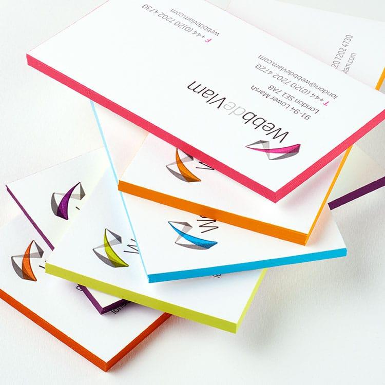 webb_de_vlam_letterpress_business_cards_edge_painted_fan_750