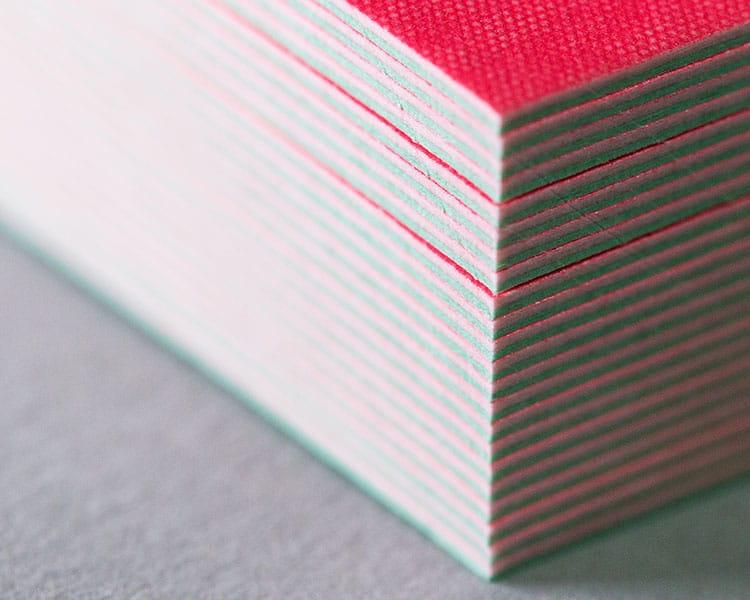 weklig_letterpress_hot_foil_business_cards_pink_edges_750