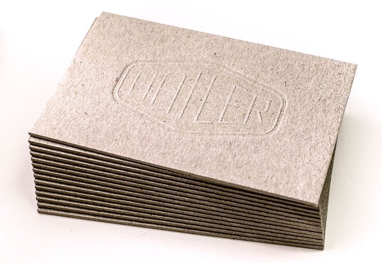 hailer_letterpress_business_cards_recycled_greyboard_stack_750