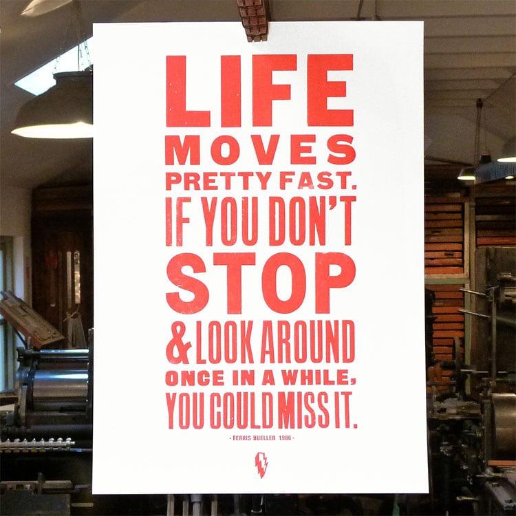 Leap_Ferris_Bueller_poster_wood_type_750
