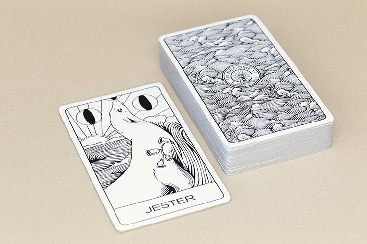 tarot letterpress cards cotton card silver gilt edges stack_750