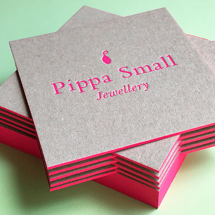 pippa_small_cards_recycled_greyboard_fluorescent_pink_750