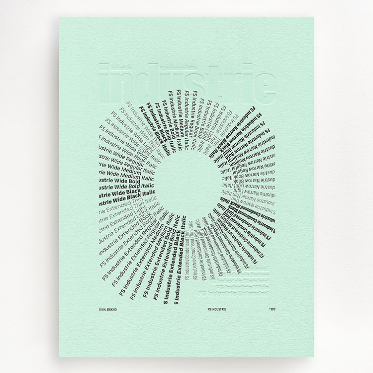fontsmith_industrie_letterpress_prints_shin_dokho_750