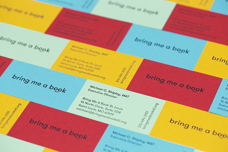 bring me a book letterpress business cards 750
