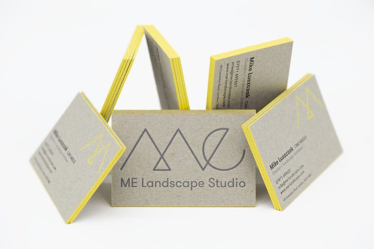 me landscape letterpress edge painted business cards greyboard random 750