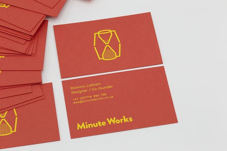 minute works business hot foil cards 750
