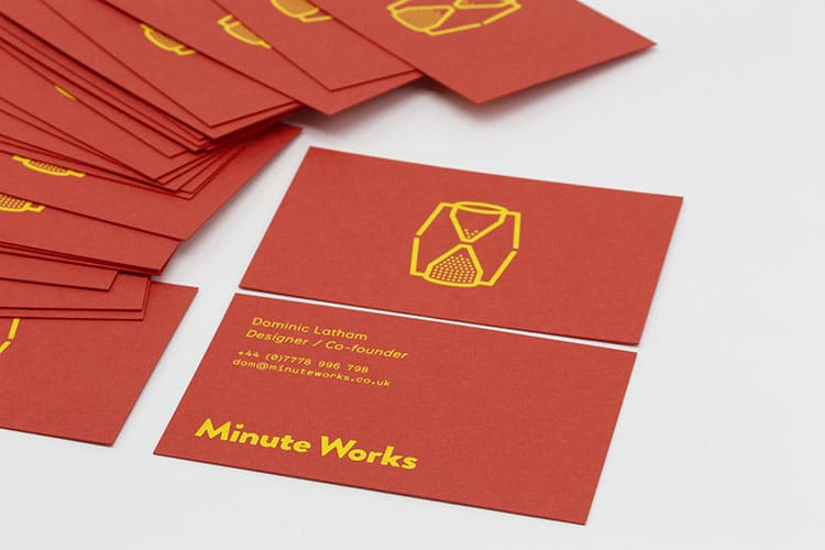minute works business hot foil cards detail 750