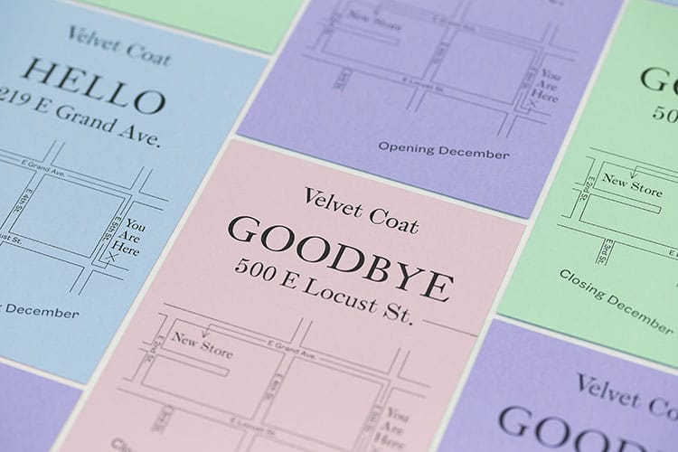 velvet coat letterpress hello goodbye cards colorplan detail 750