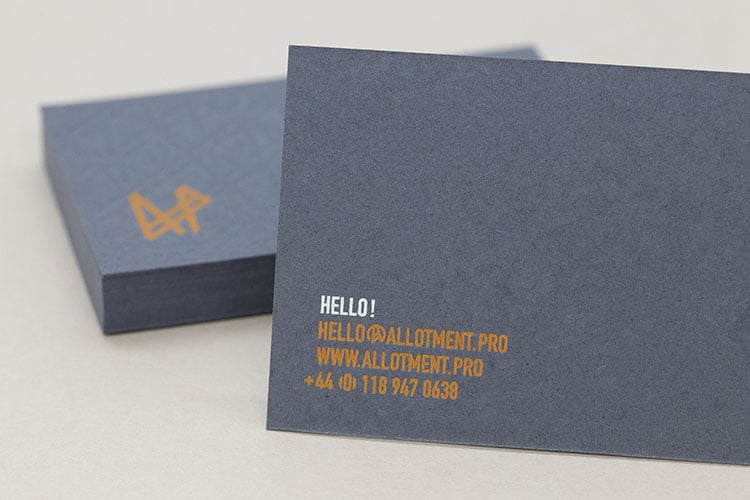 allotment productions hot foil business cards detail_750
