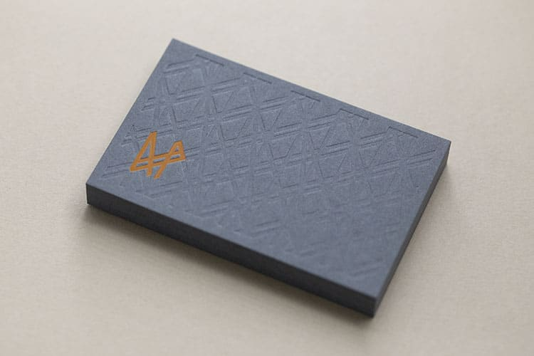 allotment productions hot foil business cards stack_750