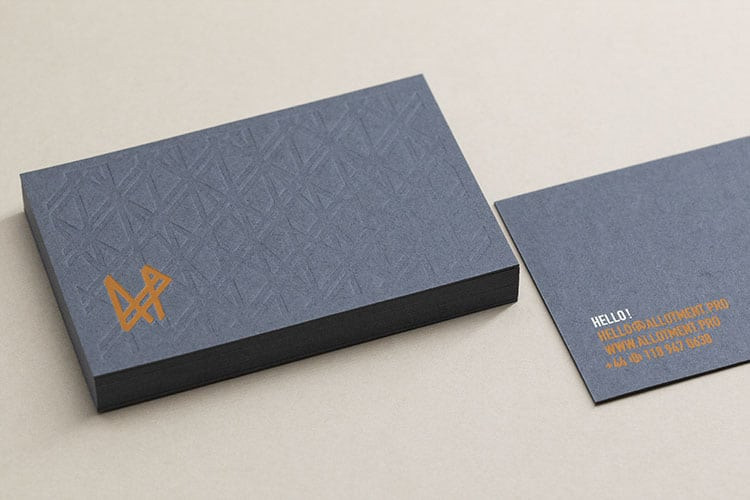 allotment productions hot foil business cards_750