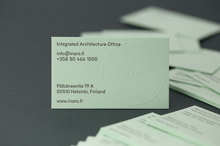 inaro letterpress embossed business cards_750