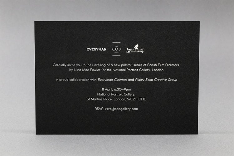 luminary drawings national portrait gallery invitation hot foil back_750