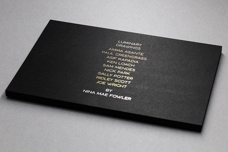 luminary drawings national portrait gallery invitation hot foil front detail_750