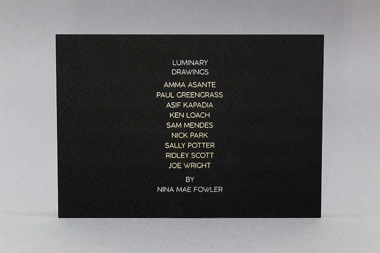 luminary drawings national portrait gallery invitation hot foil front_750