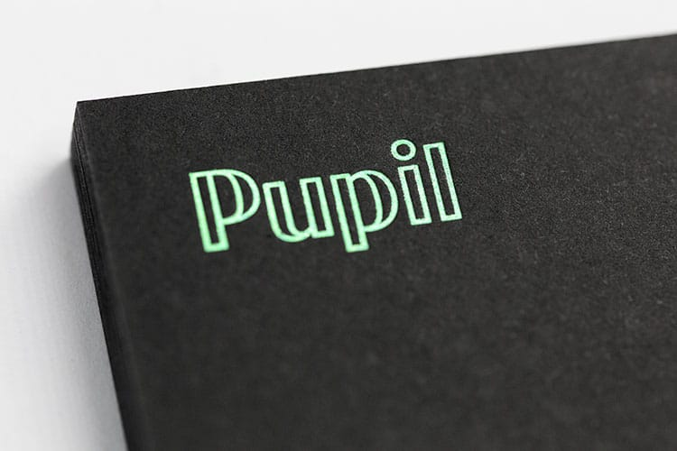 pupil hot foil business cards detail_750