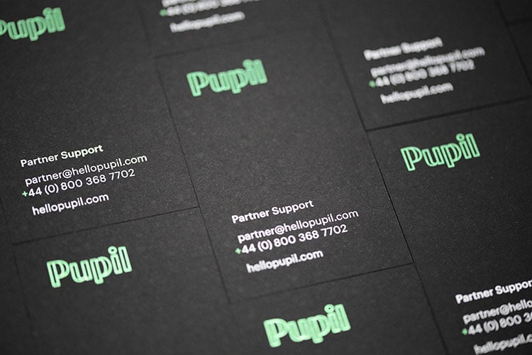 pupil hot foil stamped business cards_750