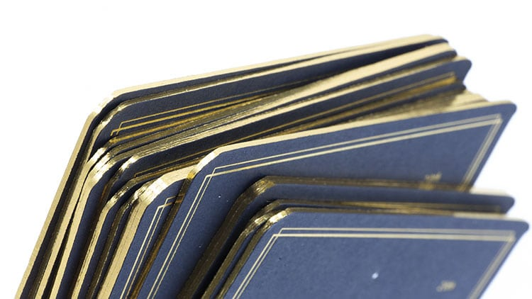 sam gray hot foil wedding invitations gold gilt edges 750