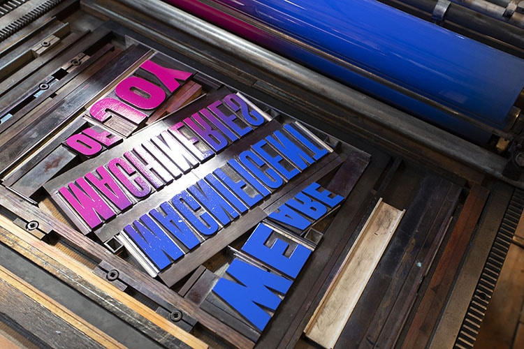 we are magnificent machineries of joy wood type poster forme press_750