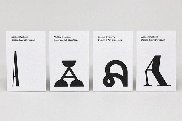 atelier dyakova letterpress business cards wild white row 2-750