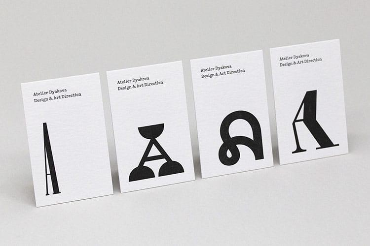 atelier dyakova letterpress business cards wild white row-750