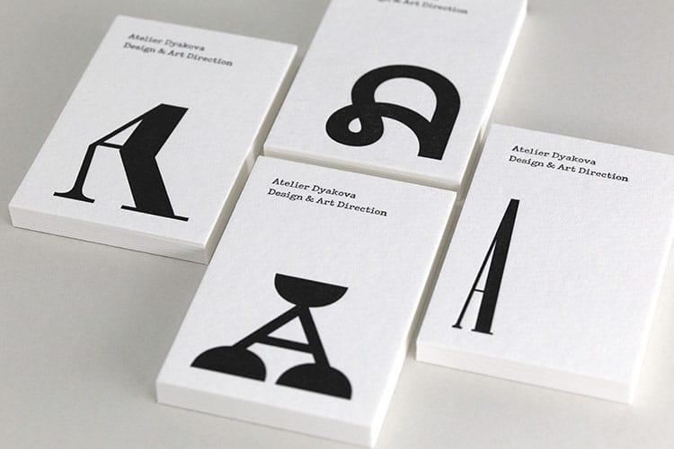 atelier dyakova letterpress business cards wild white stacks-750