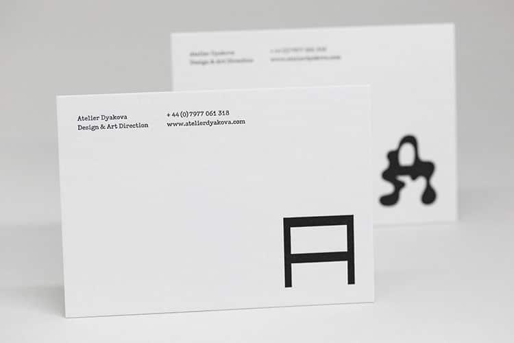 atelier dyakova letterpress postcards wild white-750