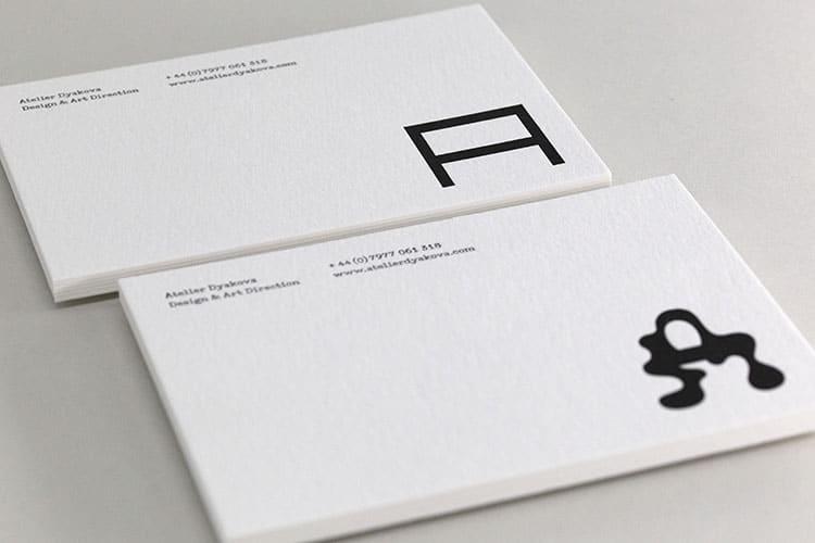 atelier dyakova letterpress postcards wild white stacks 2-750