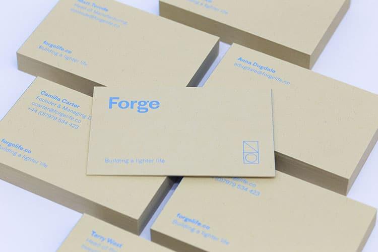 forge business cards hot foil gmund kraft 3_750