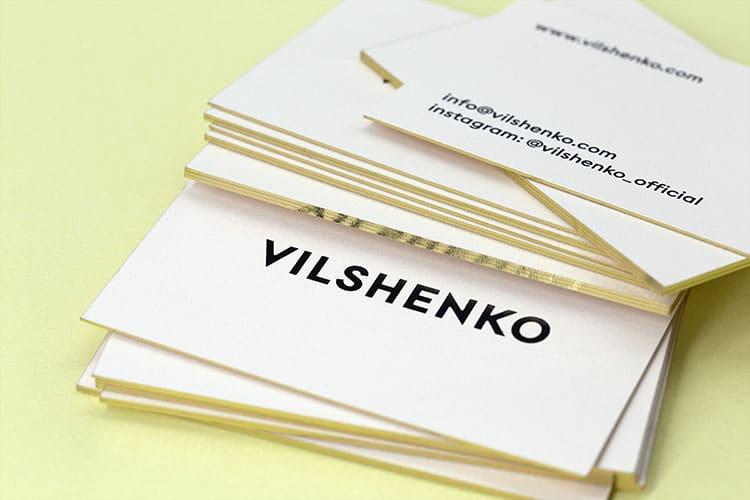 vilshenko foil stamped gold gilt edged business cards_750