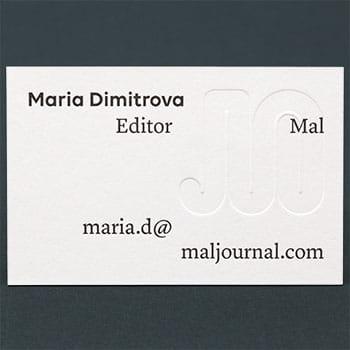 blind embossed letterpress business cards colorplan heavyweight luxury black ink