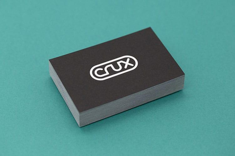crux hot foil letterpress business cards duplex colorplan stack_750