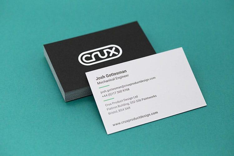 crux hot foil letterpress business cards duplex colorplan_750
