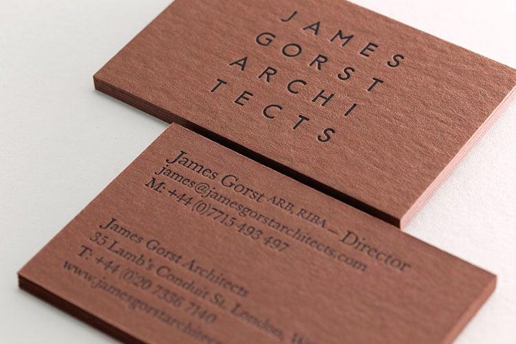 james gorst architects letterpress business cards detail_750