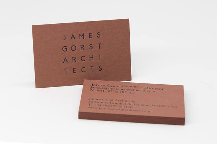 james gorst architects letterpress business cards_750