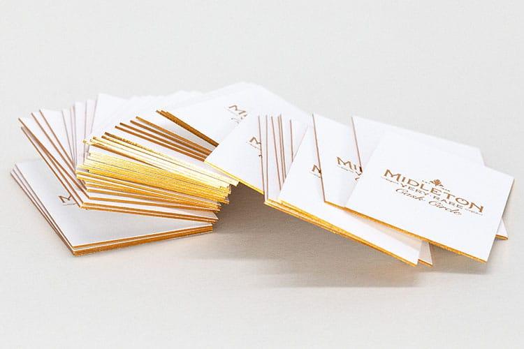 midleton cask circle letterpress hot foil business cards gilt edges 2_750
