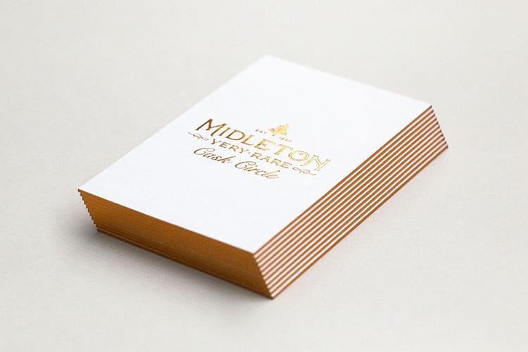 midleton cask circle letterpress hot foil business cards_750